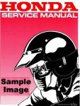 Official 1995 Honda CR80RS Competiton Handbook Owners manual