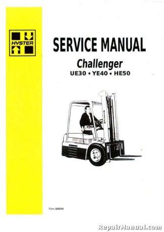 Hyster Challenger HE50 UE30 YE40 Forklift Gas Diesel Service Manual | Hyster 50 Wiring Diagram |  | RepairManual.com