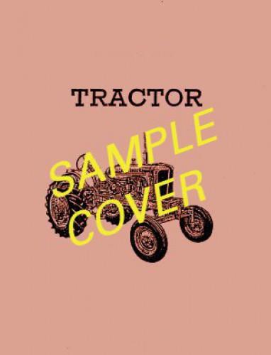 Massey Ferguson MF100 Loader For Various MF Tractors Operators Manual