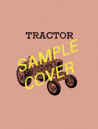 International Harvester IHC-250-A TLB Loader Backhoe Chassis Only Factory Service Repair Manual