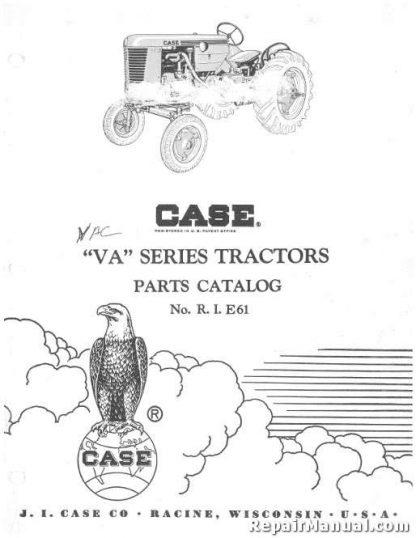 JI Case VA Series Tractors Factory Parts Manual