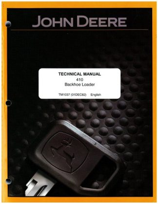 John Deere 410 TLB Factory Service Manual