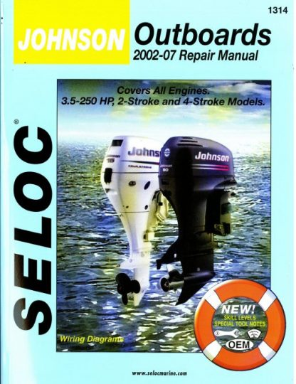 Johnson Outboards 25 - 250 hp 2-Stroke and 4-Stroke 2002-2007 Repair Manual