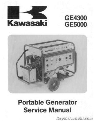 Kawasaki GE4300 5000 Portable Generator Service Manual