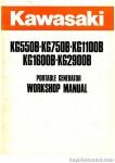 Kawasaki KG550B KG750B KG1100B KG1600B KG2900B Portable Generator Service Manual