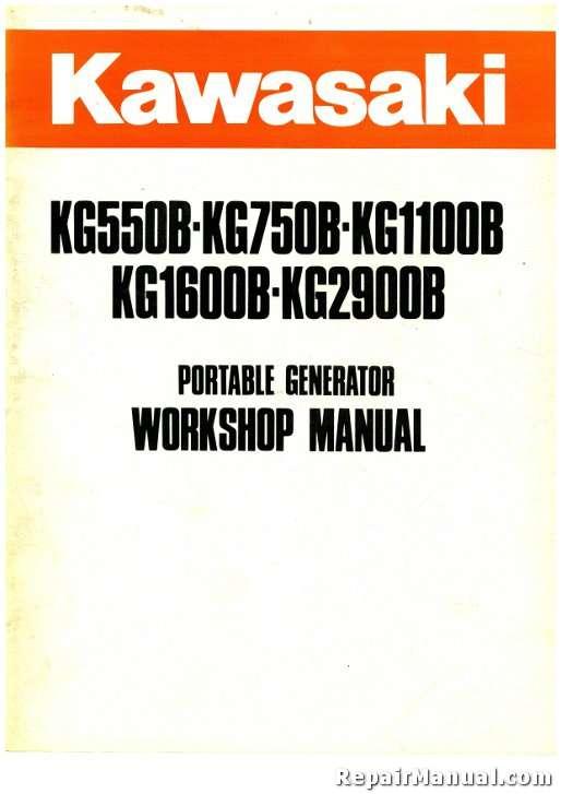 Kawasaki Kg B Kg B Kg B Kg B Kg B Portable Generator Service Manual T on 800 Kawasaki Motorcycle Wiring Diagrams