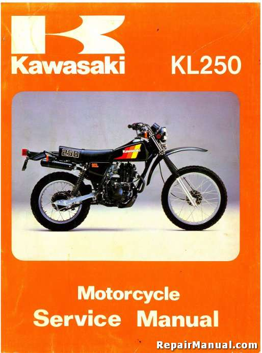 1980 1983 kawasaki kl250 motorcycle service manual rh repairmanual com kl250 kawasaki repair manual kawasaki kl 250 repair manual