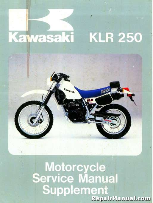 1985 kawasaki klr250 service manual supplement rh repairmanual com klx 250 shop manual klx 250 workshop manual