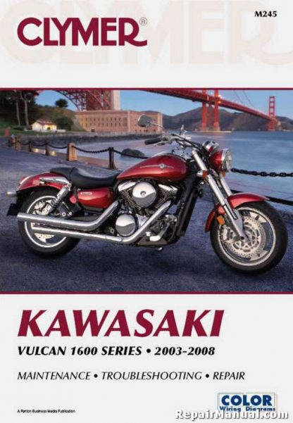 2003-2008 Kawasaki Vulcan VN1600 Motorcycle Repair Manual By Clymer