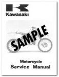 Used Official 1980 Kawasaki KX125A6 Owners Service Manual