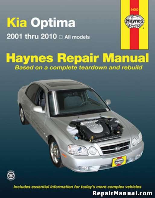 kia optima 2001 2010 haynes car repair manual. Black Bedroom Furniture Sets. Home Design Ideas