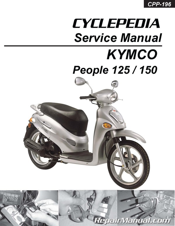 kymco people 125 150 cyclepedia printed scooter service manual. Black Bedroom Furniture Sets. Home Design Ideas
