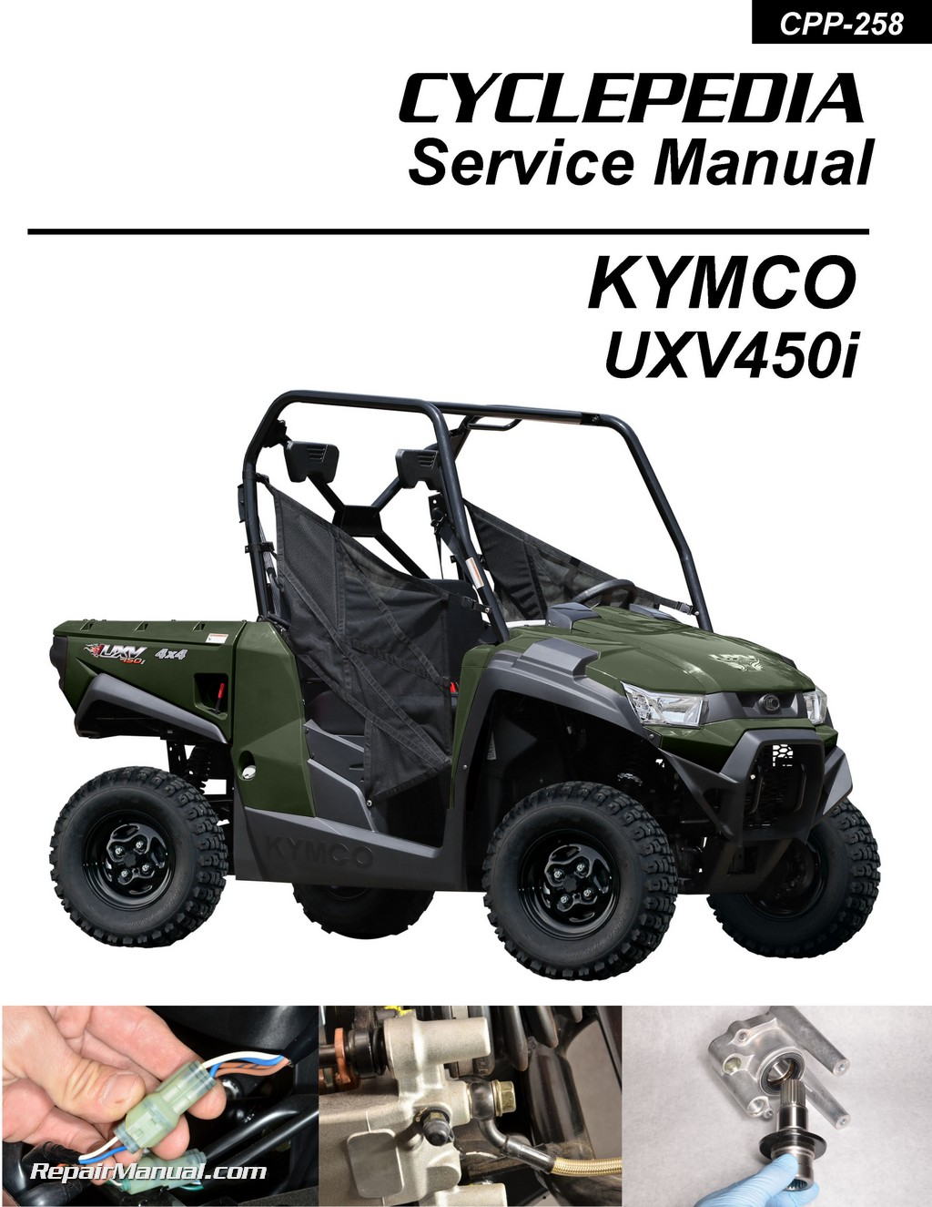 Kymco Uxv 450i 4x4 Side X Side Printed Service Manual By