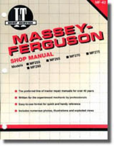 massey ferguson mf255 mf265 mf270 mf275 mf290 tractor manual mf 43 ebay
