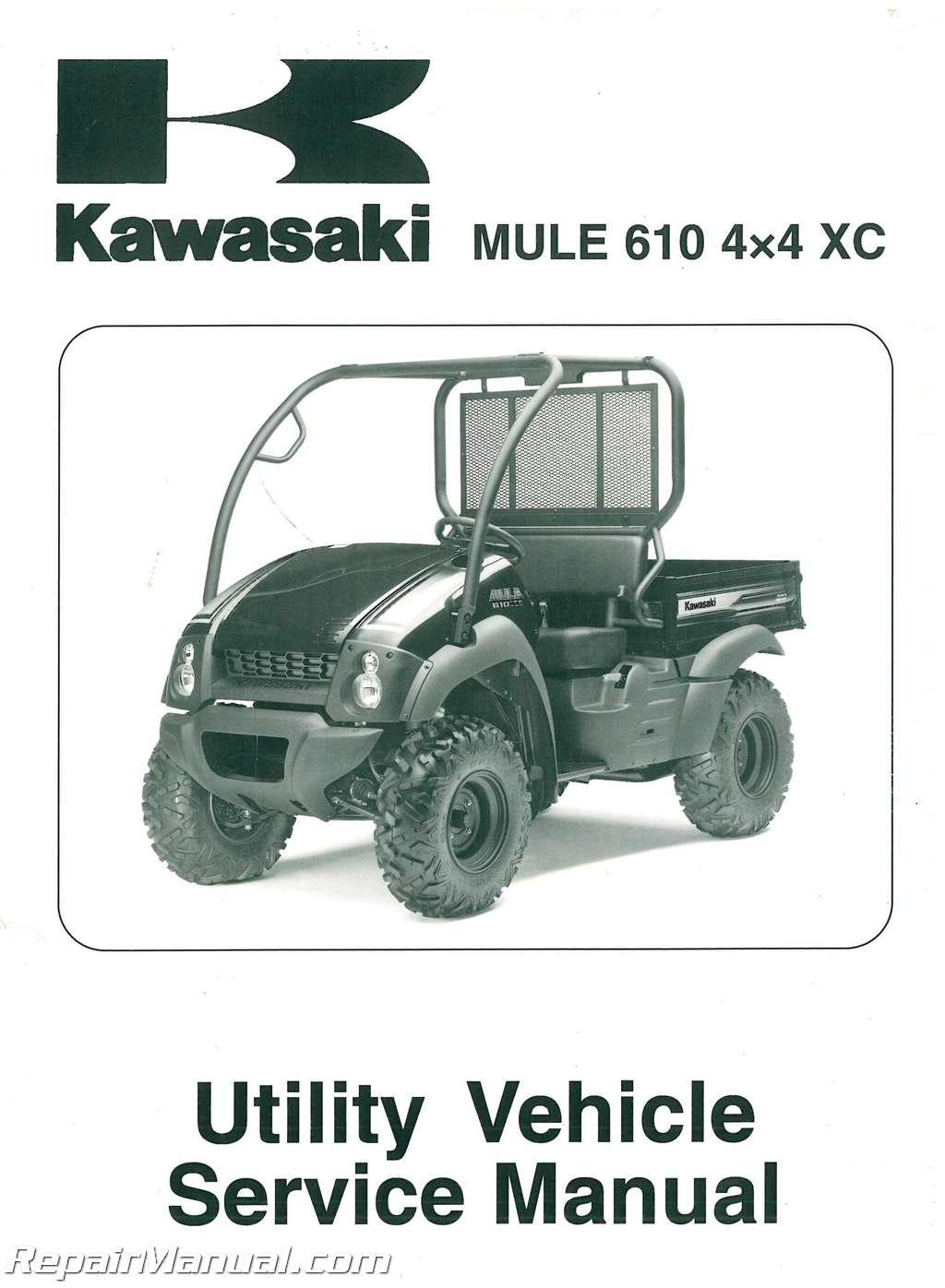 2010 2011 kawasaki kaf400d mule 610 4 u00d74 xc service manual 2006 kawasaki mule 610 owner's manual Kawasaki Mule 610 Parts Diagram