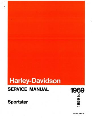 Official 1959-1969 Harley Davidson Sportster Service Manual