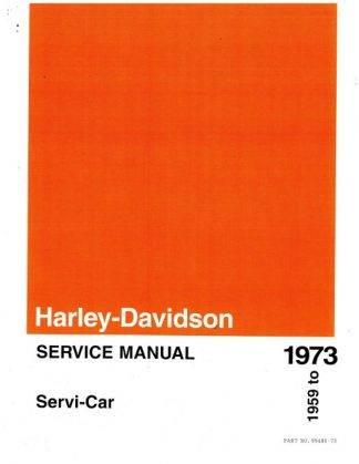 Official 1959-1973 Harley Davidson GE-750 Servi-Car Service Manual