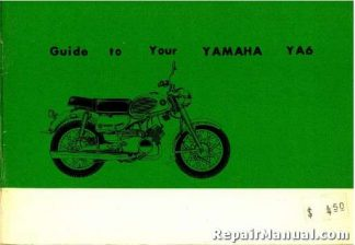 1964 Yamaha Ya6 Motorcycle Owners Manual