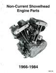 1966-1984 Harley Davidson Non-Current Shovelhead Engine Parts Manual