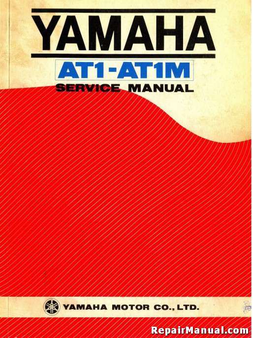 1968 1969 yamaha at1 at1m series motorcycle service manual rh repairmanual com 1973 Yamaha AT1 Parts 1972 AT1 125 Yamaha Enduro