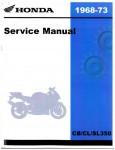 1968-1973 Honda CB CL SL350 Shop Manual