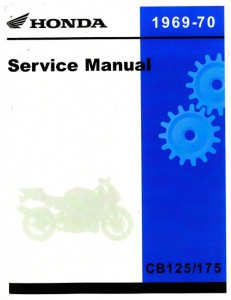 Official 1969-1970 Honda CB125-175-CL125-175 Factory Service Manual