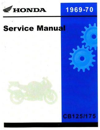 Official 1969-1970 Honda CB125-175-CL125-175 Factory Service Manual