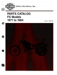 Official 1971-1984 Harley Davidson FX Parts Manual