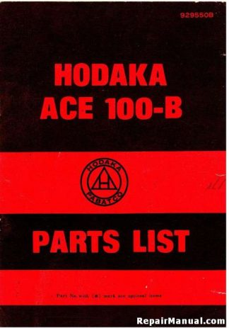 Official 1971 Hodaka ACE100B Motorcycle Spare Parts Manual