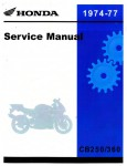 1974-1977 Honda CB250 CB360 CJ250T CL360 CJ360 Service Manual
