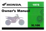 Official 1975 Honda XL100 Factory Owners Manual