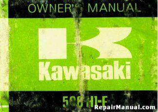 Official 1975 Kawasaki H1-F 500 Motorcycle Factory Owners Manual