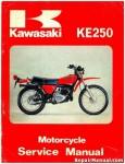Official 1977-1979 Kawasaki KE250 Motorcycle Factory Service Manual