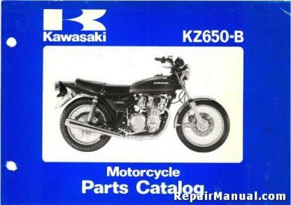 Official 1977-1980 Kawasaki KZ650B Series Motorcycle Parts Manual