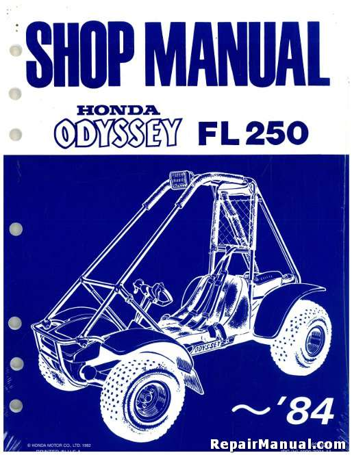 1977-1984 FL250 Honda Odyssey Service Manual on