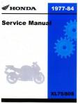Official 1977-1984 Honda XL75 80 Factory Service Manual