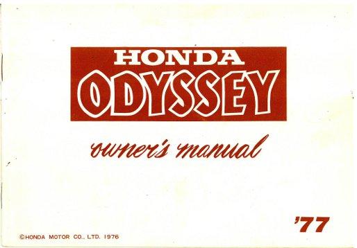Used 1977 Honda Fl250 Odyssey Owners Manual