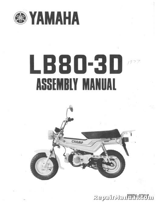 1977 yamaha lb80 3d champ motorcycle assembly manual rh repairmanual com Assembly Instruction Manuals Accuphase Assembly Manuals