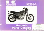 Official 1978 Kawasaki KZ200-A Motorcycle Parts Manual
