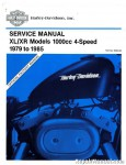 Official 1979-1985 Harley Davidson XLS XLH XLCH Sportster and Roadster Service Manual