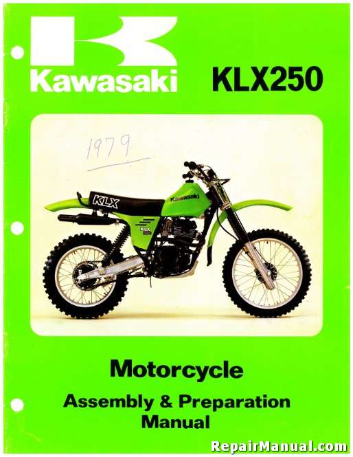 1979 kawasaki klx250 motorcycle assembly preparation manual rh repairmanual com kawasaki klx 250 service manual kawasaki klx 250 service manual pdf