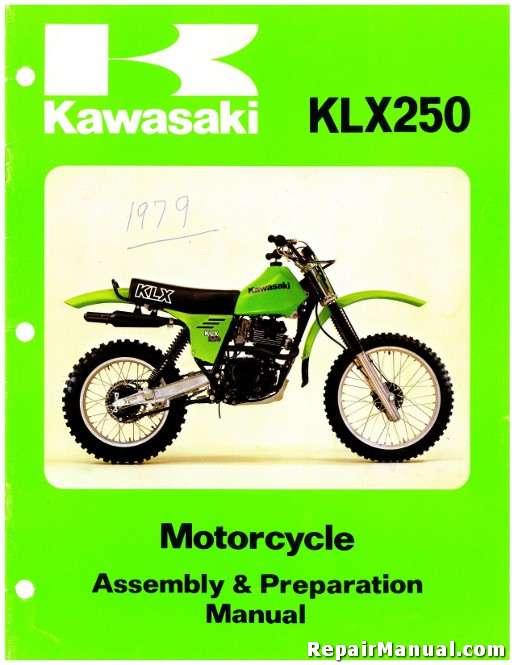 1979 Kawasaki Klx250 Motorcycle Assembly Preparation Manual