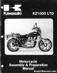 Official 1980 Kawasaki KZ1000 B4 LTD Motorcycle Assembly Preparation Manual
