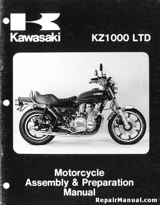 1980 kawasaki kz1000 b4 ltd motorcycle assembly preparation manual rh repairmanual com z1000 repair manual z1000 repair manual