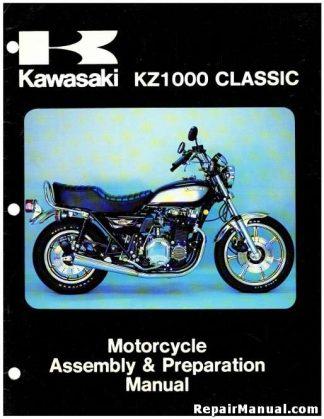 Official 1980 Kawasaki KZ1000 G1 Classic Motorcycle Assembly Preparation Manual