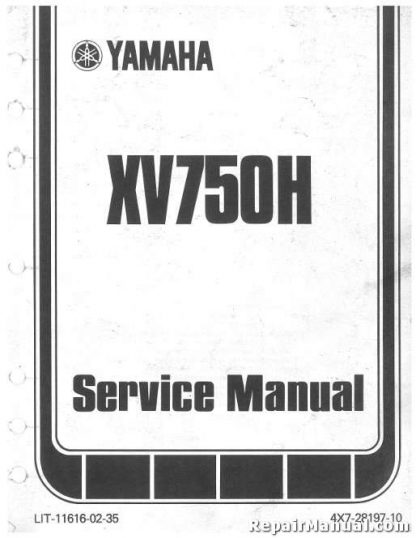 Official 1981-1982 Yamaha XV750 Virago Seca XV920 Virago Factory Owners Manual