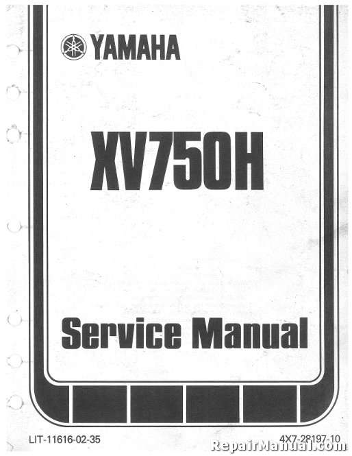 1981-1982 Yamaha XV750 XV920 Virago Seca Motorcycle Service Manual on