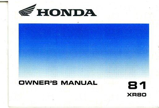 1981 honda xr80 motorcycle owners manual rh repairmanual com 1991 Honda XR50 1981 Honda XR80 Parts