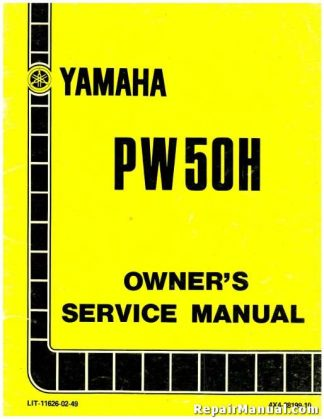 Official 1981 Yamaha PW50H Motorcycle Factory Owners Service Manual