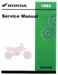 Official 1983 Honda CR125R Factory Service Manual